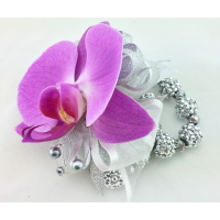 Stunning Purple Orchid Wrist Corsage